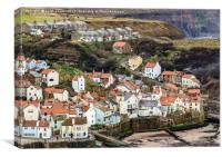 Looking down on Staithes, Canvas Print