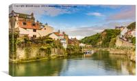 Staithes on a sunny day, Canvas Print