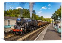 Leaving Grosmont Station, Canvas Print