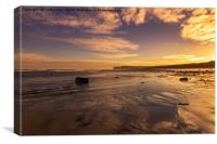 Marske Beach North Yorkshire, Canvas Print