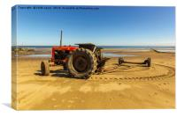 Nuffield 60 Tractor, Canvas Print