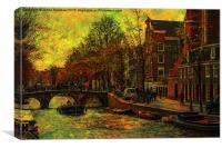 I AMsterdam. Vintage Amsterdam in Golden Light, Canvas Print