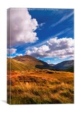 Sunny Day at Rest and Be Thankful. Scotland, Canvas Print