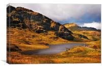Loch Restil. Rest and Be Thankful, Scotland, Canvas Print