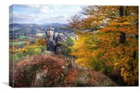The Touch of Gold. Saxon Switzerland , Canvas Print