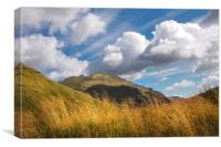 Fine Day At Rest And Be Thankful. Scotland, Canvas Print