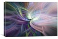Glow of Galactic Rose, Canvas Print