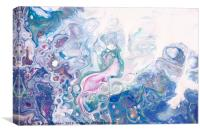 Underwater Worlds Fragment 6.  Abstract Fluid Acry, Canvas Print