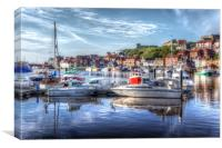 Fishing boats in Whitby Harbour, Canvas Print