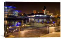 Imperial War Museum at night, Canvas Print