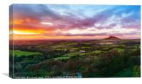 Gribdale Sunset, Canvas Print