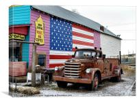 Seligmans old fire truck, Canvas Print
