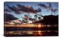 Sunset At South Pier, Canvas Print