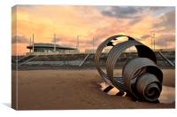 Marys Shell Cleveleys Sunset, Canvas Print