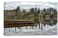 Derwentwater Reflections Keswick, Canvas Print