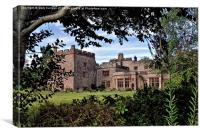 Through The Tree's And Bushes At Muncaster Castle, Canvas Print