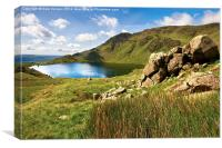 Leverswater Old Man Of Coniston, Canvas Print