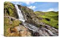 Waterfall On Route To Coniston Old Man, Canvas Print