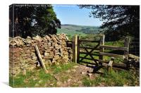 Lancashire Countryside in the Trough Of Bowland, Canvas Print