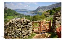 Looking Towards Ullswater, Canvas Print