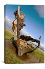 Wooden Boat Wreck, Canvas Print