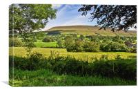 Pendle Hill Lancashire, Canvas Print