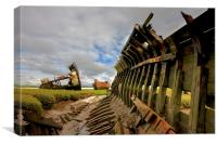 Decommissioned Boats , Canvas Print