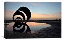 Mary's Shell On The Beach Cleveleys, Canvas Print