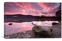 Sunrise Over Derwentwater, Canvas Print