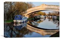 Lancaster Canal Sunset Reflections, Canvas Print
