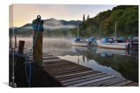 Early Morning Misty Water on Ullswater, Canvas Print