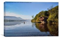 Canoe On Ullswater Near Duke Of Portland Boathouse, Canvas Print