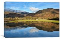 Coniston Field Reflections, Canvas Print