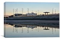 Reflections on the beach at Cleveleys, Canvas Print