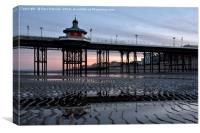 Early Morning at North Pier Blackpool, Canvas Print