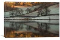 Cold and frosty morning at Rydalwater, Canvas Print