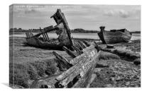 Trio Of Wrecks, Canvas Print