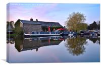 Sunset On The Lancaster Canal At The Old Tithe Bar, Canvas Print