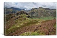 The Langdales and Side Pike from Lingmoor Fell, Canvas Print