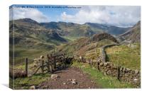 Views Of Side Pike and Bowfell, Canvas Print