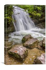 Janets Foss Waterfall Yorkshire Dales, Canvas Print