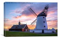 Lytham Windmill During A Lovely Sunset, Canvas Print