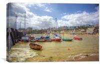 Broadstairs harbour, Canvas Print