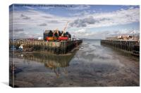 Whitstable harbour, Canvas Print