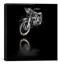 Matchless AJS Motorcycle, Canvas Print