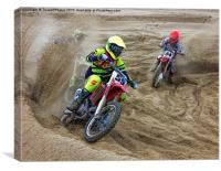 Motor cross, Canvas Print
