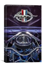 1966 Ford Mustang, Canvas Print