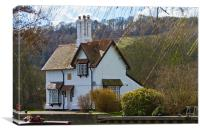 The Lock house Goring on Thames, Canvas Print