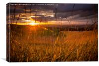 Sunset over White Horse, Canvas Print