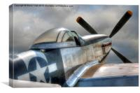 P51 Mustang Ready for Action, Canvas Print